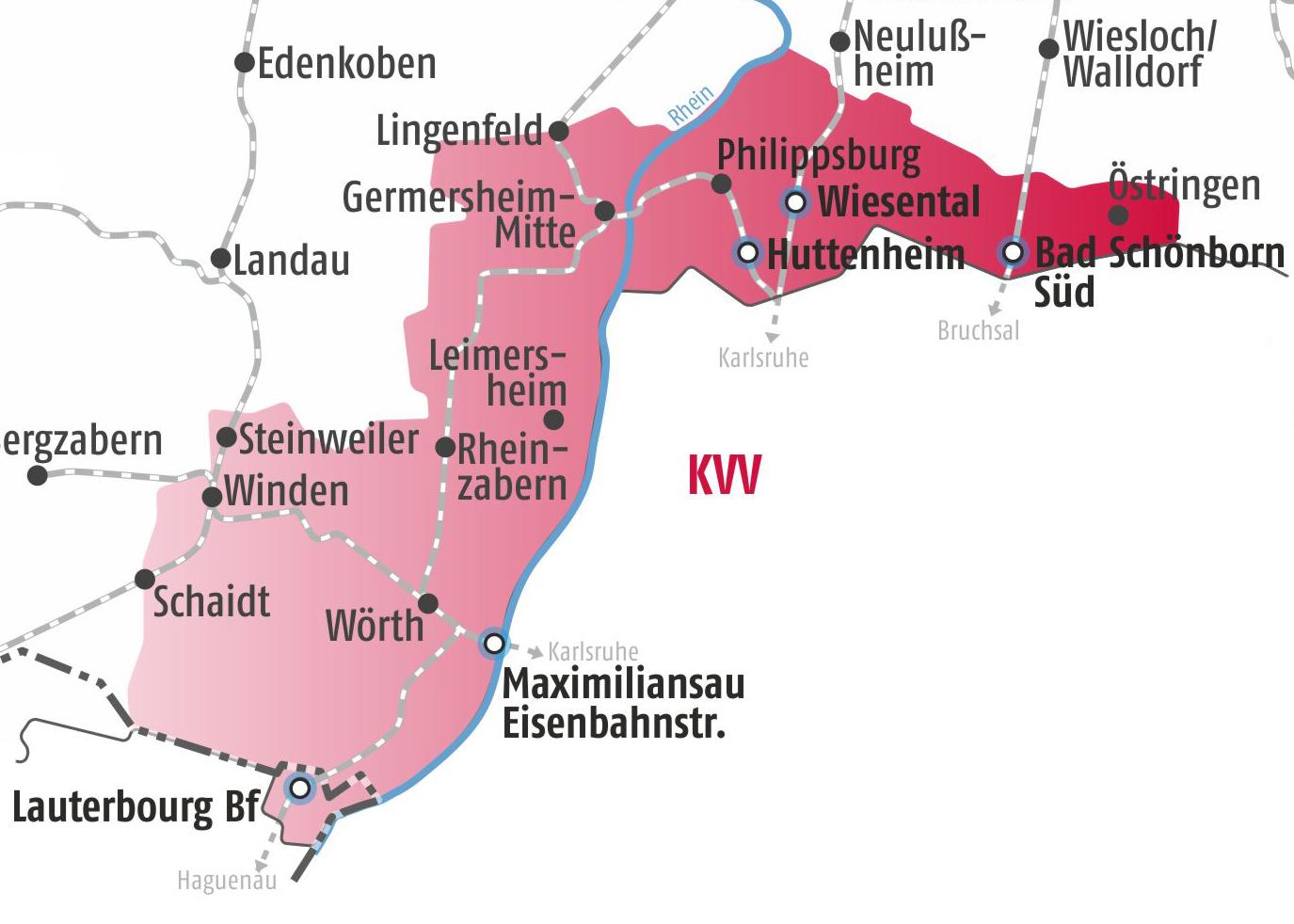 Vrn Ubergang Zum Karlsruher Verkehrsverbund Kvv